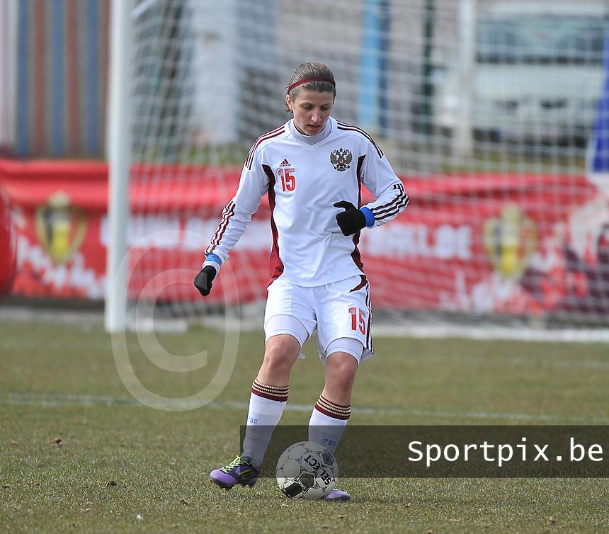 Switzerland U19 - Russia U19 : Elina Samoilova.foto DAVID CATRY / Nikonpro.be