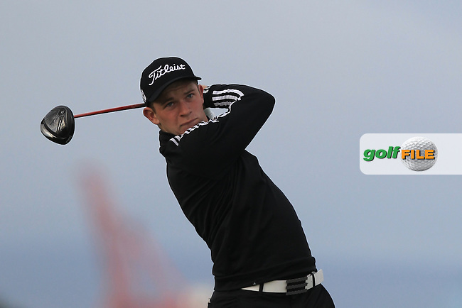 William Enefer (ENG) on the 3rd tee during Round 1 of the Flogas Irish Amateur Open Championship at Royal Dublin on Thursday 5th May 2016.<br /> Picture:  Thos Caffrey / www.golffile.ie