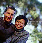 Bettina Briz - Management Advisor, with her husband Peter Himes - Direcotr Business Development - Idini: Executive portrait photographs by San Francisco - corporate and annual report - photographer Robert Houser.