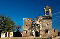 The exterior of the San Jose Mission. San Antonio, Texas.