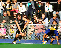 NZ's Nick Wilson during the international hockey match between the New Zealand Black Sticks and Malaysia at Fitzherbert Park, Palmerston North, New Zealand on Sunday, 9 August 2009. Photo: Dave Lintott / lintottphoto.co.nz