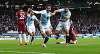 Blackburn Rovers' Bradley Dack celebrates scoring the opening goal with Blackburn Rovers' Derrick Williams  <br /> <br /> Photographer Rachel Holborn/CameraSport<br /> <br /> The EFL Sky Bet Championship - Blackburn Rovers v Aston Villa - Saturday 15th September 2018 - Ewood Park - Blackburn<br /> <br /> World Copyright &copy; 2018 CameraSport. All rights reserved. 43 Linden Ave. Countesthorpe. Leicester. England. LE8 5PG - Tel: +44 (0) 116 277 4147 - admin@camerasport.com - www.camerasport.com
