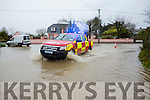 The fire brigade was under pressure on Sunday evening after the town was hit with a massive flash flood