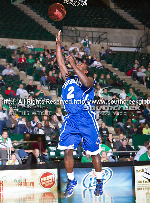 New Orleans Privateers guard Darrell Williams (2) in action during the game between the New Orleans Privateers and the University of North Texas Mean Green at the North Texas Coliseum,the Super Pit, in Denton, Texas. UNT defeated UNO 78 to 47.....