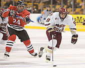 Denis Chisholm, Nathan Gerbe - The Boston College Eagles defeated the Northeastern University Huskies 5-2 in the opening game of the 2006 Beanpot at TD Banknorth Garden in Boston, MA, on February 6, 2006.