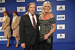 29.09.2012,  O2 World, Hamburg, GER, 1. FBL, Hamburger SV (GER) Geburtstagsgala, im Bild Guenther Netzer mit Frau Elvira auf dem roten Teppich// during match at O2 World 2012/09/29,Hamburg<br /> Foto &copy; nph / Witke *** Local Caption ***