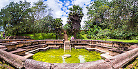 Ancient City of Polonnaruwa, panoramic photo of the Bathing Pool (Kumara Pokuna) of Parakramabahu's Royal Palace, UNESCO World Heritage Site, Sri Lanka, Asia. This is a panoramic photo of the Bathing Pool (Kumara Pokuna) of Parakramabahu's Royal Palace at the Ancient City of Polonnaruwa, a UNESCO World Heritage Site in the Cultural Triangle area of Sri Lanka, Asia.