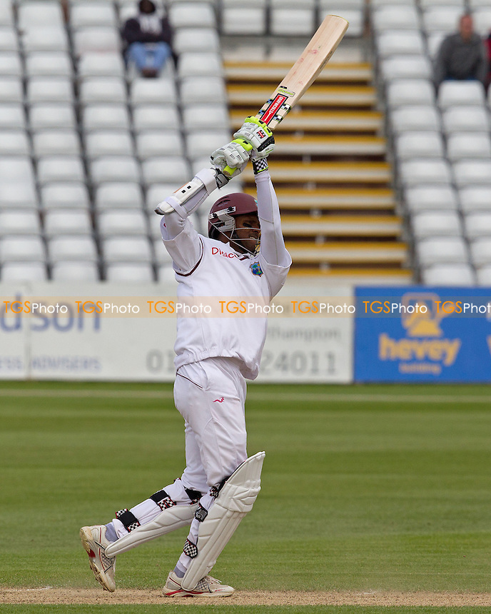 Shivnarine Chanderpaul, West Indies goes over the top - West Indies vs England Lions - International Cricket Match at The County Ground, Northamptonshire CCC - 12/05/12 - MANDATORY CREDIT: Ray Lawrence/TGSPHOTO - Self billing applies where appropriate - 0845 094 6026 - contact@tgsphoto.co.uk - NO UNPAID USE.