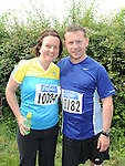 Robert Nugent and Darina Brady who took part in the Annagassan 10K run. Photo: Colin Bell/pressphotos.ie