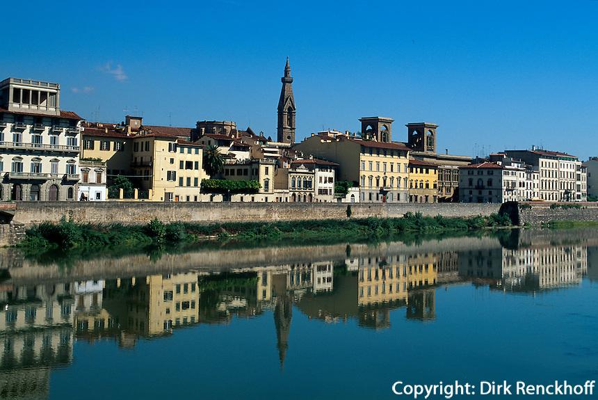Italien, Toskana, Florenz, Hauser am rechten Arnoufer, Unesco-Weltkuturerbe