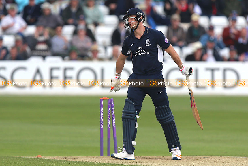 Nick Compton of Middlesex is bowled out by Paul Walter during Essex Eagles vs Middlesex, Royal London One-Day Cup Cricket at The Cloudfm County Ground on 12th May 2017