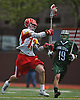 Regan Quinn #13 of Chaminade, left, gets in position to shoot during the third quarter of a non-league varsity boys lacrosse game against Yorktown at Chaminade High School on Saturday, Apr. 23, 2016. Chaminade won by a score of 8-4.