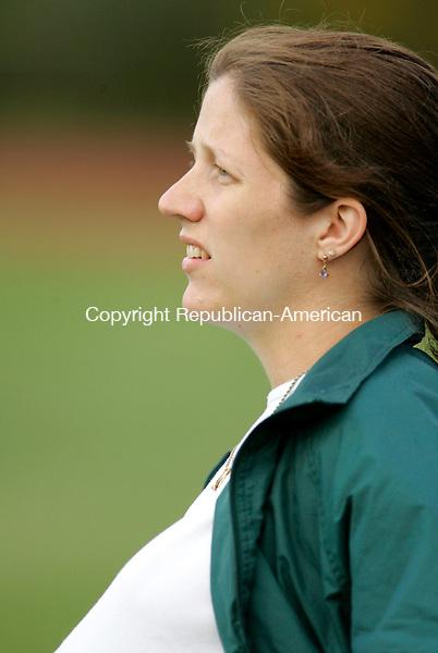 WATERBURY, CT- 20 SPETEMBER 2006-092006JS08---Wilby boys soccer coach Tara Flaherty. --Jim Shannon Republican-American