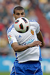 Real Zaragoza's Carlos Diogo during La Liga match.October 23,2010. (ALTERPHOTOS/Acero)