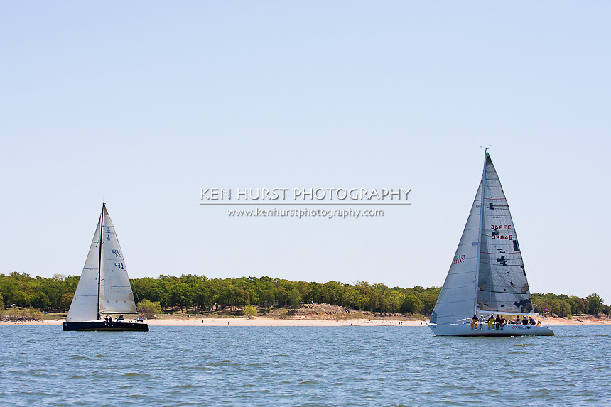 Texoma Sailing Club Lakefest Regatta 2011, 25th annual charity regatta at Lake Texoma, Denison, Texas.