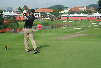 Ryan Moore (USA) on the 14th tee during Round 3 of the CIMB Classic in the Kuala Lumpur Golf & Country Club on Saturday 1st November 2014.<br /> Picture:  Thos Caffrey / www.golffile.ie