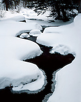 Snow-covered stream near Sprague Lake; Rocky Mountain National Park, CO