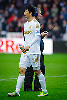 Sunday, 23 November 2012<br /> <br /> Pictured: Ki Sung-Yeung of Swansea City<br /> <br /> Re: Barclays Premier League, Swansea City FC v Manchester United at the Liberty Stadium, south Wales.