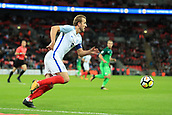 5th October 2017, Wembley Stadium, London, England; FIFA World Cup Qualification, England versus Slovenia; Harry Kane, the England captain starts an attack