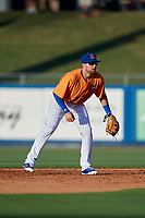 St. Lucie Mets second baseman Blake Tiberi (3) during a game against the Daytona Tortugas on August 3, 2018 at First Data Field in Port St. Lucie, Florida.  Daytona defeated St. Lucie 3-2.  (Mike Janes/Four Seam Images)