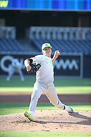 Dayton Hall (15) of the East Team bats against the West Team during the Perfect Game All American Classic at Petco Park on August 14, 2016 in San Diego, California. West Team defeated the East Team, 13-0. (Larry Goren/Four Seam Images)