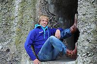 SCHAATSEN: MUIDEN: forteiland Pampus, 08-10-2012, Perspresentatie Team Beslist.nl, Michel Mulder, ©foto Martin de Jong