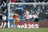 26th January 2020; Coliseum Alfonso Perez, Madrid, Spain; La Liga Football, Club Getafe Club de Futbol versus Real Betis; Angel Rodriguez (Getafe CF)  takes and scores from the penalty spot for 1-0 in the 89th minute