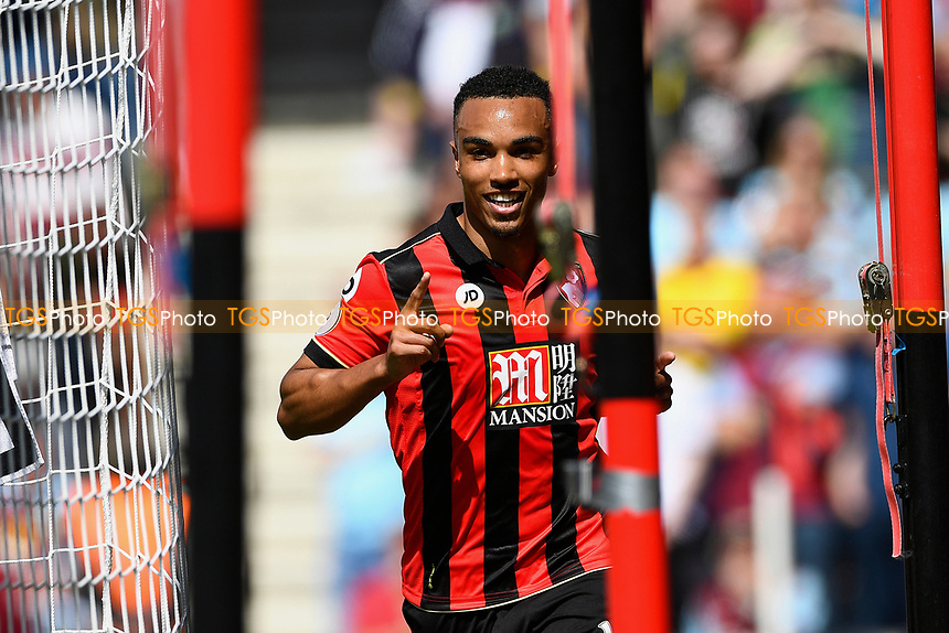 Junior Stanislas of AFC Bournemouth celebrates scoring the first goal during AFC Bournemouth vs Burnley, Premier League Football at the Vitality Stadium on 13th May 2017