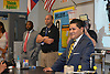 Superintendent Richard Carranza tours Westside High School.