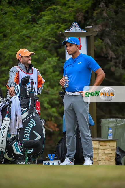 Julian Suri (USA) looks over his tee shot on 14 during Round 3 of the Valero Texas Open, AT&T Oaks Course, TPC San Antonio, San Antonio, Texas, USA. 4/21/2018.<br /> Picture: Golffile | Ken Murray<br /> <br /> <br /> All photo usage must carry mandatory copyright credit (© Golffile | Ken Murray)