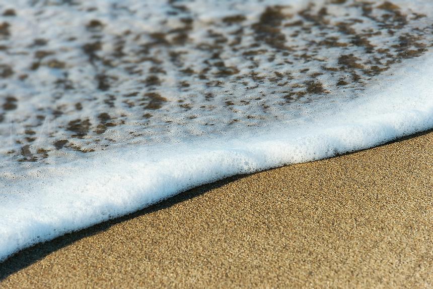 Ocean meets beach, Massachusetts,, USA