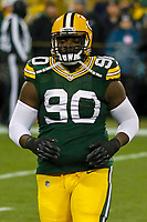 Green Bay Packers defensive tackle Montravius Adams (90) during a National Football League game against the Minnesota Vikings on December 23rd, 2017 at Lambeau Field in Green Bay, Wisconsin. Minnesota defeated Green Bay 16-0. (Brad Krause/Krause Sports Photography)