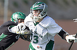 La Canada Flintridge, CA 03/16/13 - Brett Inglesby (De La Salle #13) in action during the De La Salle vs Coronado lacrosse game at St Francis High School.  De La Salle defeated Coronado 8-5.