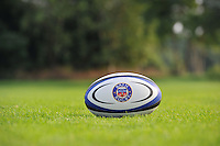 A general view of a Bath Rugby branded rugby ball. Bath Rugby Media Day on August 27, 2013 at Farleigh House in Bath, England. Photo by: Patrick Khachfe/Onside Images