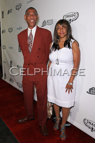 ARTHUR MITCHELL, VERDIE ALTHEIMER. Attendees to Souljah Boy Red Carpet Birthday Bash and Performance, sponsored by Swaggmedia.com, at the Highlands. Hollywood, CA, USA. July 28, 2010.