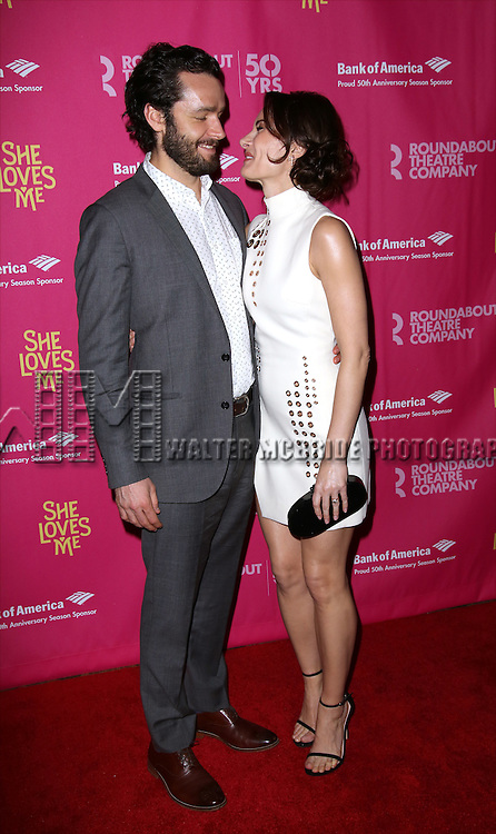 Laura Benanti and husband Patrick Brown attends the Broadway Opening Night Performance press reception for 'She Loves Me' at Studio 54 on March 17, 2016 in New York City.