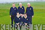 Enjoying for a round of golf in Castleisland Golf course Sunday morning was front l-r: Leila Moloney, Seamus O'Neill. Back: Ned O'Callaghan, John Geaney and Con Daly.   Copyright Kerry's Eye 2008