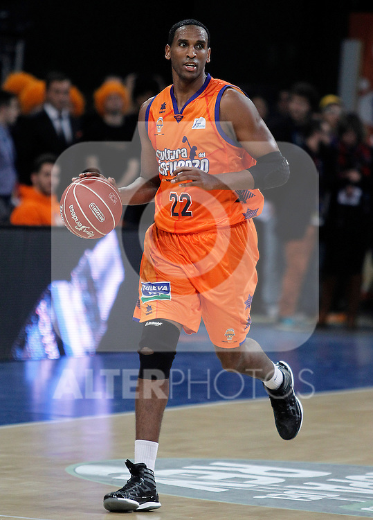 Valencia Basket Club's Thomas Kelati during Spanish Basketball King's Cup semifinal match.February 07,2013. (ALTERPHOTOS/Acero)