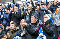 Huddersfield Town fans urge their team forward during the closing stages<br /> <br /> Photographer Alex Dodd/CameraSport<br /> <br /> The Premier League - Huddersfield Town v Swansea City - Saturday 10th March 2018 - John Smith's Stadium - Huddersfield<br /> <br /> World Copyright &copy; 2018 CameraSport. All rights reserved. 43 Linden Ave. Countesthorpe. Leicester. England. LE8 5PG - Tel: +44 (0) 116 277 4147 - admin@camerasport.com - www.camerasport.com