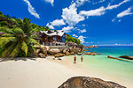 Seychelles, Holiday Home of the Villas Chez Batista on Anse Takamaka, West Coast, Island of Mahe, Seychelles