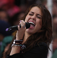 New York, NY, 8-28-2009<br /> Miley Cyrus on NBC's Today Show Conert Series<br /> Photo By John Barrett/PHOTOlink.net