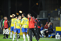 VOETBAL: LEEUWARDEN: Cambuur Stadion, 10-05-2012, SC Cambuur - VVV, Nacompetitie, Eindstand 0-0, Jonathan Vosselman (#5), Charles Dissels (#7), Henk de Jong (assistent-trainer), ©foto Martin de Jong