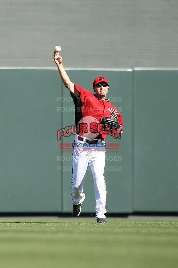 A.J. Pollock #60 of the Arizona Diamondbacks plays against the Chicago Cubs in a spring training game at Salt River Fields on March 13, 2011 in Scottsdale, Arizona. .Photo by:  Bill Mitchell/Four Seam Images.