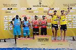 31.05.2015, Moskau, Vodny Stadion<br /> Moskau Grand Slam, Siegerehrung<br /> <br /> 3. Platz / Bronze / Bronzemedaille, Jonathan Erdmann / Kay Matysik (GER)<br /> <br />   Foto &copy; nordphoto / Kurth