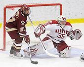 Steven Whitney (BC - 21), Ryan Carroll (Harvard - 35) - The Boston College Eagles defeated the Harvard University Crimson 3-2 on Wednesday, December 9, 2009, at Bright Hockey Center in Cambridge, Massachusetts.