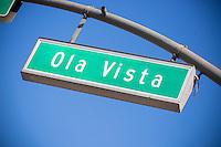 Ola Vista Street Sign in San Clemente