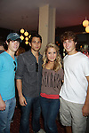 One Life To Live's Kristen & Eddie Alderson & Lenny Platt & Andrew Trischitta at the Daytime Stars and Strikes Charity Event to benefit the American Cancer Society at the Bowlmore Lanes, New York City, New York. (Photo by Sue Coflin/Max Photos)