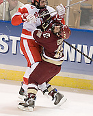 Dan Spang, Stephen Gionta - The Boston College Eagles defeated the Boston University Terriers 5-0 on Saturday, March 25, 2006, in the Northeast Regional Final at the DCU Center in Worcester, MA.