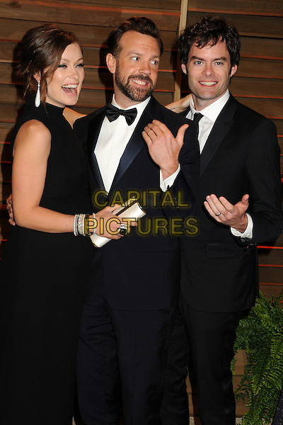 02 March 2014 - West Hollywood, California - Olivia Wilde, Jason Sudeikis, Bill Hader . 2014 Vanity Fair Oscar Party following the 86th Academy Awards held at Sunset Plaza.  <br /> CAP/ADM/BP<br /> &copy;Byron Purvis/AdMedia/Capital Pictures