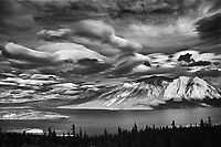 Nares Mountain and Nares Lake, an arm of Tagish Lake.<br />